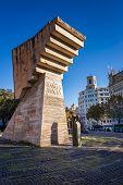 Francesc Macia Memorial On Placa De Catalunya, Barcelona, Spain