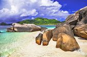 Stunning beaches of Seychelles islands
