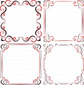 Set Of Different Vector Decorative Frames