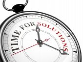 Time For Solutions Concept Clock
