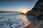 Sunset On A Cornish Beach