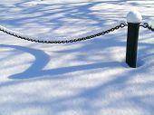 Chain under snow