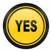 yes icon, yellow logo