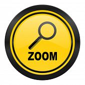 zoom icon, yellow logo