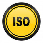iso icon, yellow logo