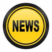 news icon, yellow logo