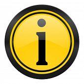information icon, yellow logo
