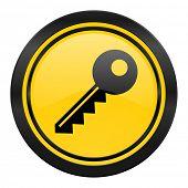 key icon, yellow logo