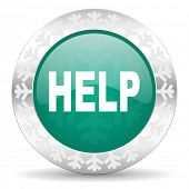 help green icon, christmas button