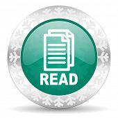 read green icon, christmas button
