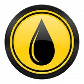 water drop icon, yellow logo