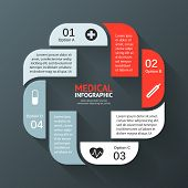 Vector circle plus sign infographic. Template for diagram, graph, presentation and chart. Medical he