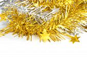 gold and silver ribbon for christmas decorate