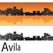 Avila Skyline In Orange Background
