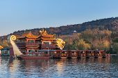 Chinese Wooden Pleasure Boats, West Lake, Hangzhou