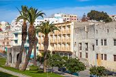 Tangier, Morocco. Street View With Palm Trees