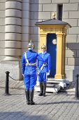 Stockholm. Changing Of Guard Near A Royal Palace.