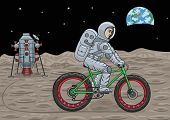 Постер, плакат: Space fatbike