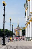 St. Petersburg, Russia, August, 10, 2014: with street lampposts