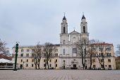 Kaunas, Lithuania, November, 17, 2014: Church in Kaunas, Lithuania.