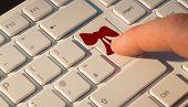 Ribbon against finger pressing enter key
