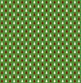 Christmas Background: Breen white and red