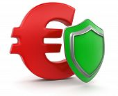 Euro Sign and Shield (clipping path included)