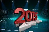 2015 squashing 2014 against cool nightlife lights