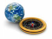 Globe and Compass (clipping path included)
