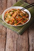Chow Mein With Chicken And Vegetables, Vertical poster