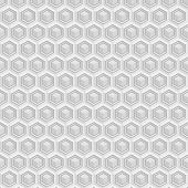 pic of hexagon pattern  - Vector seamless pattern with cubes and hexagons - JPG