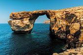 stock photo of gozo  - Gozo Azure Window Height Malta - JPG