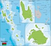 pic of political map  - Map of Vanuatu drawn with high detail and accuracy - JPG