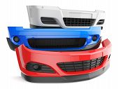 image of auto garage  - bumper bumpers isolated car auto front fender parts plastic automobile body - JPG