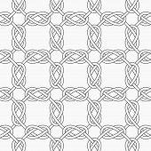 stock photo of interlocking  - Seamless stylish geometric background - JPG