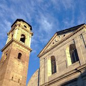 stock photo of turin  - A singular view of the complex of Turin Cathedral - JPG