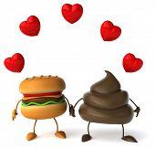 stock photo of turds  - Hamburger - JPG