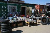 Lazy vendedor en el mercado