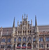 image of bavaria  - detail of the town hall Munich Bavaria Germany - JPG
