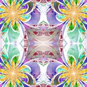stock photo of fractals  - Pattern from fractal Flowers - JPG