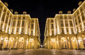 picture of turin  - Buildings on the Square of Palazzo di Citta  - JPG