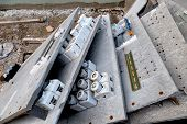 foto of fuse-box  - in a renovation of an apartment building and the fuse box be replaced - JPG