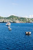 picture of off-shore  - Boats off the beautiful coast of St Kitts - JPG
