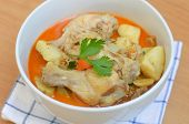 picture of curry chicken  - curry chicken soup with vagetable delicious  - JPG