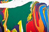 foto of paint spray  - Abstract acrylic modern painting fragment - JPG
