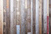 foto of timber  - Background of reclaimed timber for a modern rustic look  - JPG