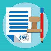 stock photo of contract  - Vector agreement icon  - JPG