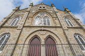 stock photo of church-of-england  - Lovely old Wesleyan Methodist Church in Marazion in cornwall england uk - JPG