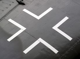 picture of aeroplan  - Iron Cross insignia from the wing of a first world war German aeroplane - JPG