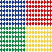 Seamless Harlequin Pattern, White